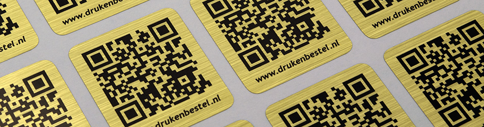 Metaal stickers brushed goudkleurig